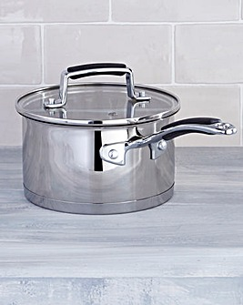 Bistro Stainless Steel 16cm Saucepan