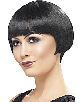 Ladies Black Flapper Bob Wig