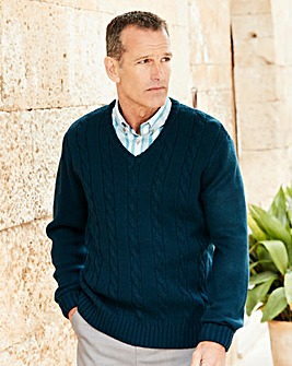 Premier Man V Neck Cable Sweater