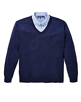 Premier Man Mock Shirt Jumper
