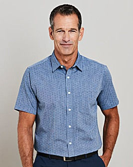 Premier Man Chambray Print Shirt