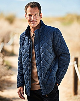 Dannimac Navy Quilted Coat R