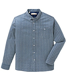 W&B Navy Textured Shirt R