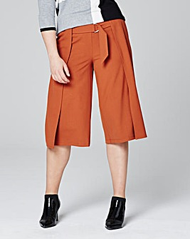 Wrap Front D Ring Detail Culottes