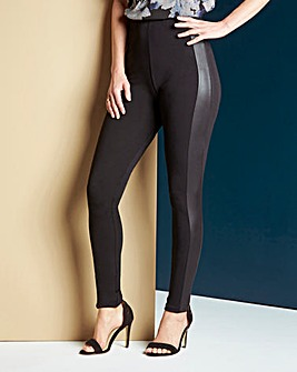 Wet Look Side Panel Leggings