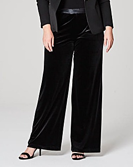 Velour Wide Leg Trouser