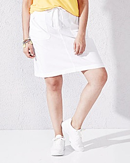 Linen-Mix Skirt