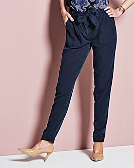 Lyocell Casual Cargo Trousers Regular