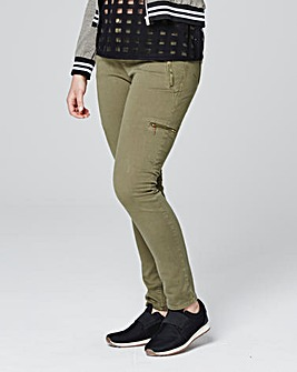 Feminine Combat Biker Trousers Regular