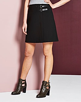 Strap Detail Mini Skirt