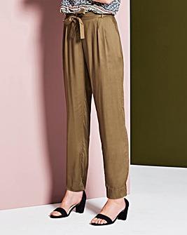 Woven Tie Waist Trouser Short