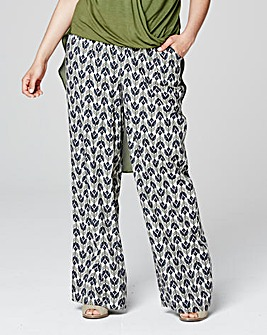 Wide Leg Print Trouser Short