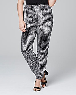 Woven Printed Harem Trousers Long