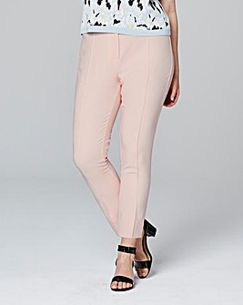 Pintuck Capri Tapered Trouser