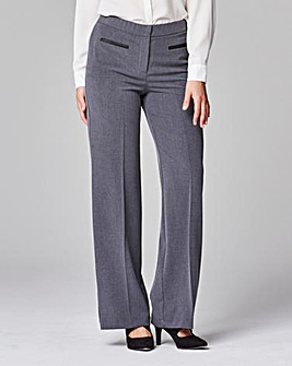 Magisculpt PU Trim Wide Leg Trouser