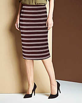 Striped Stretch Jersey Tube Skirt