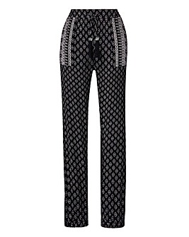 Mono Print Harem Trousers Regular