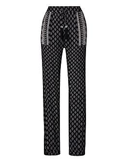 Mono Print Harem Trousers Regular