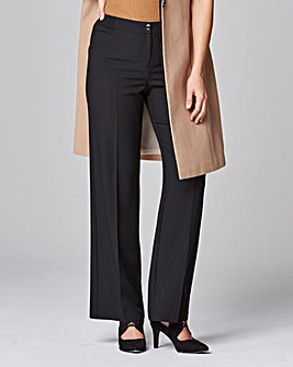 Wide Leg Bi-Stretch Trousers Long