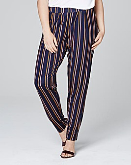 Stripe Jersey Harem Trousers Short