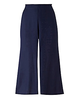 Split Front Crop Trousers