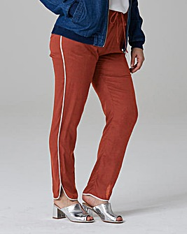 Curved Hem Tipped Trouser Long