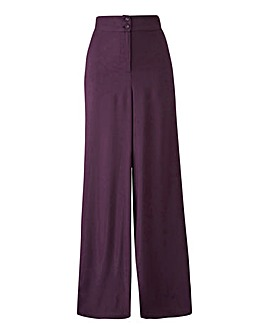 Super Wide Flared Leg Trousers Short
