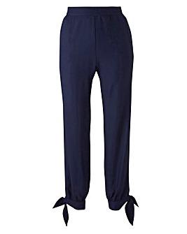 Tie Hem Crop Trouser