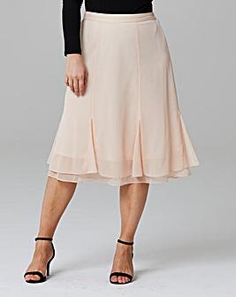 Double Hem Knee Length Skirt