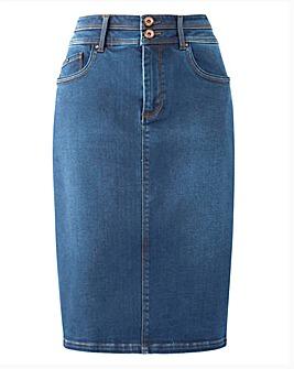Blue Shape & Sculpt Denim Pencil Skirt