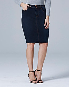 Shape & Sculpt Denim Pencil Skirt