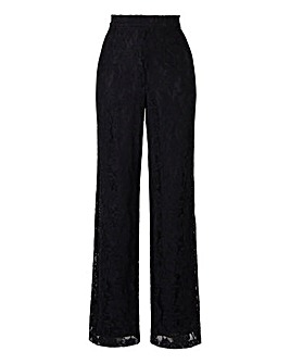 Lace Wide Leg Trousers Regular