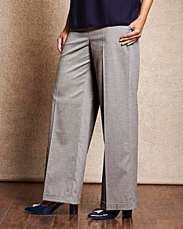 Wide Leg Wool Look Trousers