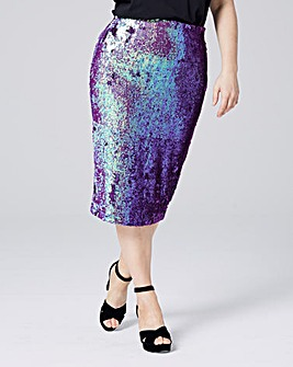 Sequin Tube Skirt