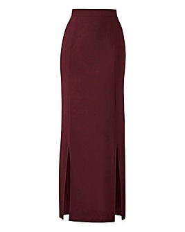Double Side Split Tube Maxi Skirt