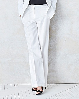 Linen Mix Wide Leg Trouser Regular