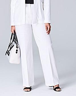 Linen Mix Wide Leg Trouser Regular