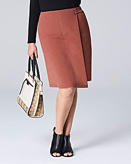Wrap Front Pencil Skirt