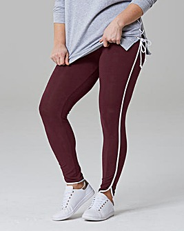 Tipped Curved Hem Leggings Regular
