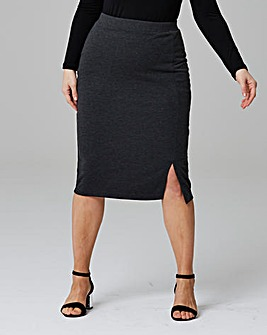 Pack of 2 Side Split Jersey Midi Skirt