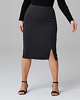 Pack of 2 Side Split Jersey Midi Skirt