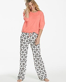 Pretty Secrets Star Print Jersey Pyjamas