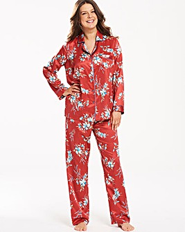 Pretty Secrets Printed Satin Pyjama Set