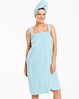 Pretty Secrets Towelling Wrap and Turban