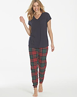 Pretty Secrets Flannel Cuffed Pyjamas