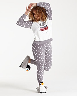 Pretty Secrets Fluffy Penguin Pyjama Set