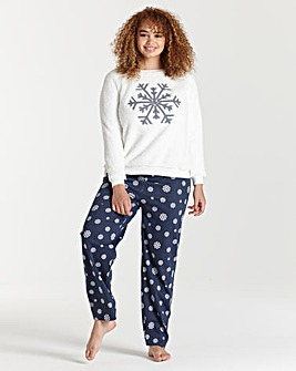 Pretty Secrets Fluffy Snowflake Jumper