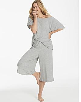 Pretty Secrets Ribbed Culotte Loungewear