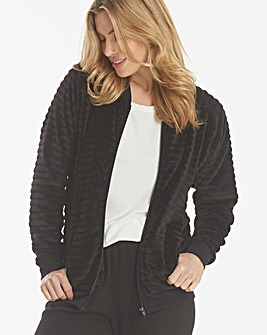 Pretty Secrets Textured Fleece Jacket