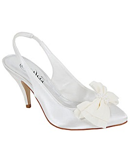 Perfect Bow Trim Sling Back